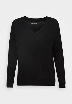 BASIC- SOFT V-NECK - Jumper - black