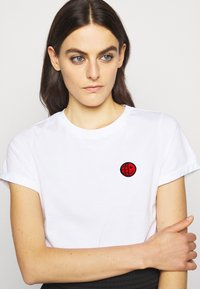 HUGO - THE SLIM TEE - Camiseta básica - white - 3
