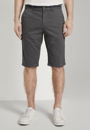 JOSH BERMUDA CHINO - Shorts - grey mini geo design