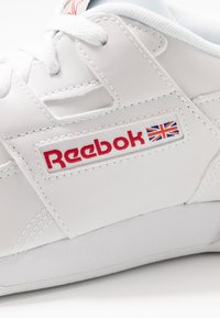 Reebok Classic - WORKOUT PLUS - Sneakers - white/skull grey/red/black - 5