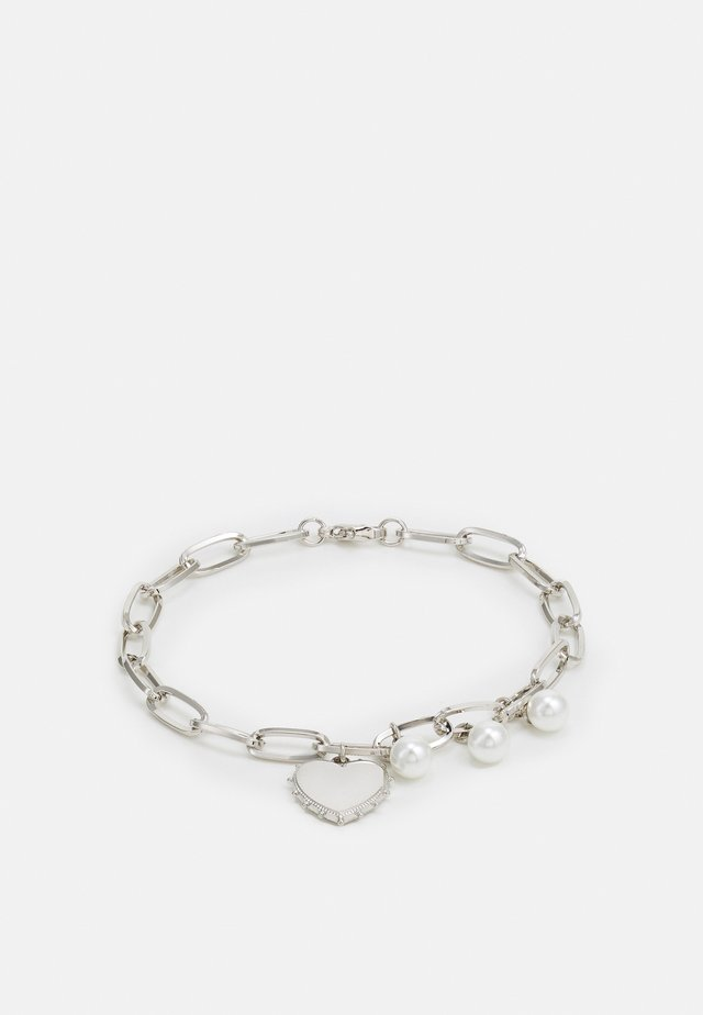 JAGGED HEART CHAIN BRACELET UNISEX - Bracelet - silver-coloured