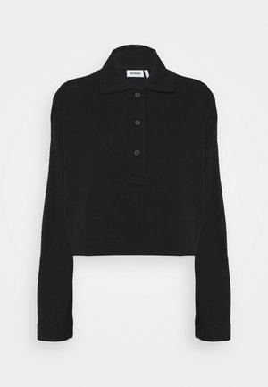 KALANI CROPPED LONG SLEEVE - Polo shirt - solid black