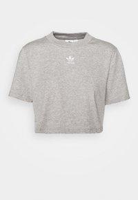 adidas Originals - CROPPED TEE - T-shirts - medium grey heather - 0