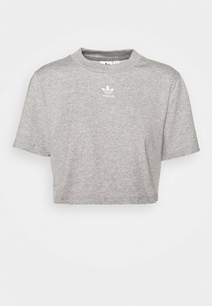 CROPPED TEE - T-paita - medium grey heather
