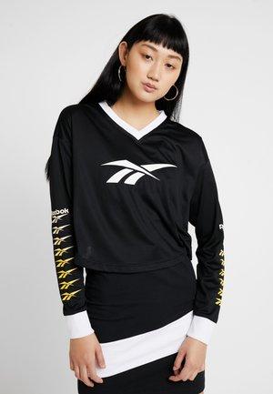 CROPPED LONGLSEEVE - Long sleeved top - black