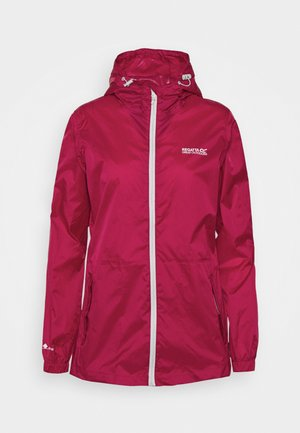 Waterproof jacket - dark cerise