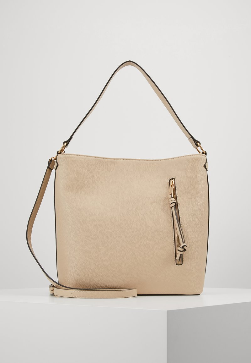 Pieces - PCCULA CROSS BODY  - Handbag - beige/gold