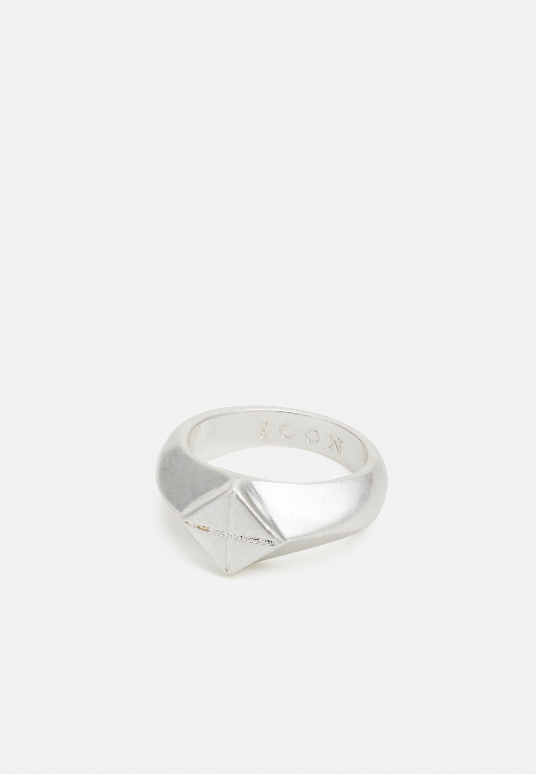 Homme DIAMOND SHAPE FRONT RING WITH CROSS - Bague