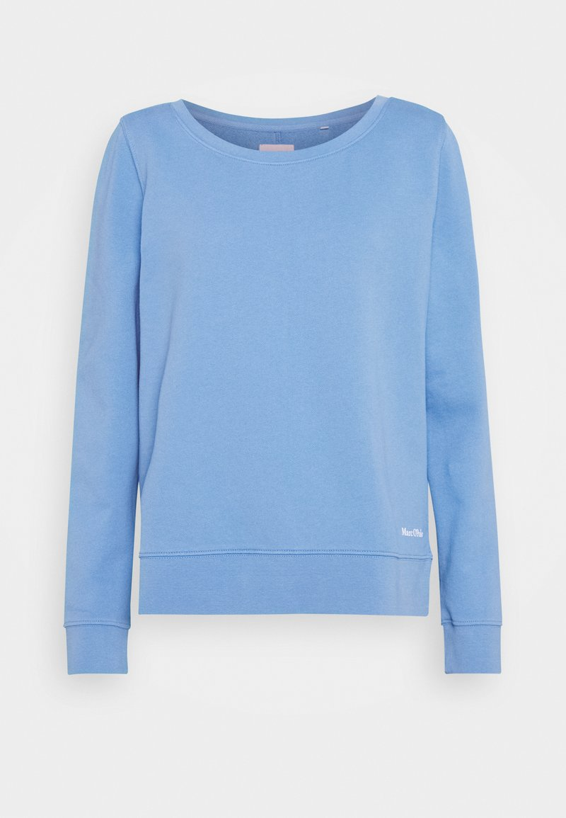 Marc O'Polo - LONG SLEEVE ROUND NECK PRINT AT BACK - Sweatshirt - northern sky