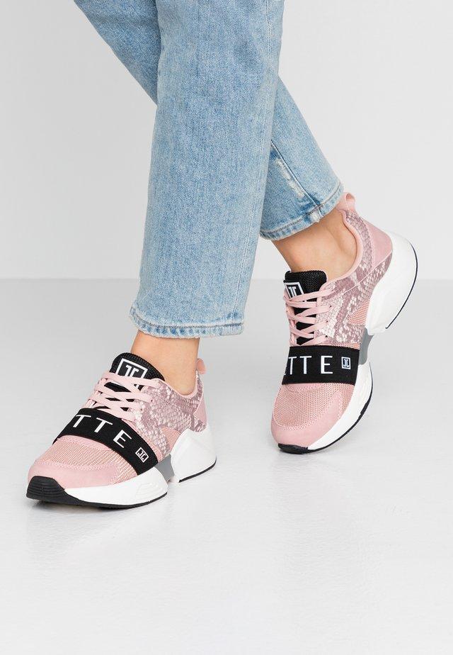 Sneakers laag - rose/navy/grey