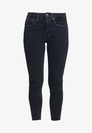 LEGS CROP RAW EDGE - Jeans Skinny Fit - blue