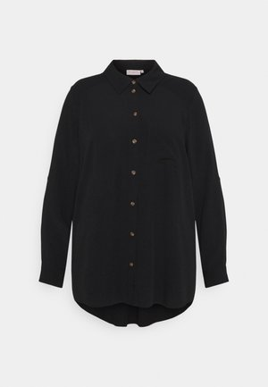 CARDENIZIA SOLID - Button-down blouse - black