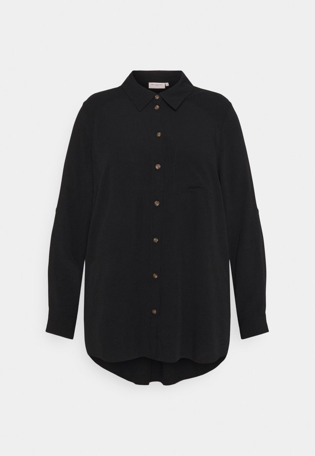 CARDENIZIA SOLID - Button-down blouse - black