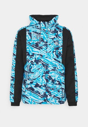 OLYMPIQUE MARSEILLE HALF ZIP - Club wear - black/blue camo