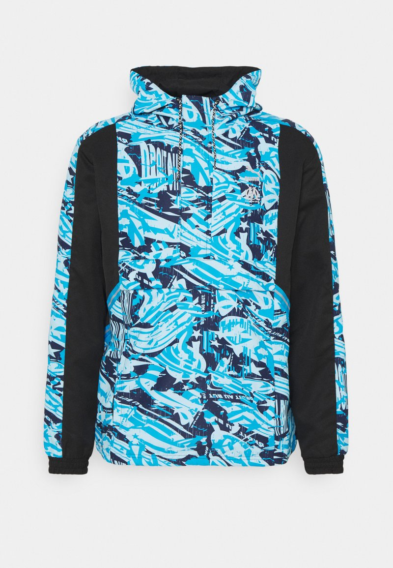 Puma - OLYMPIQUE MARSEILLE HALF ZIP - Club wear - black/blue camo