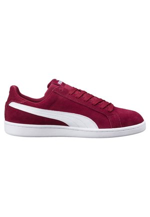 PUMA SMASH SUEDE TRAINERS MAN - Trainers - tibetan red-puma white