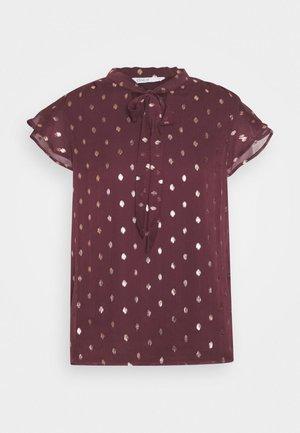 ONLISABELLA   - T-shirts med print - port royale/gold