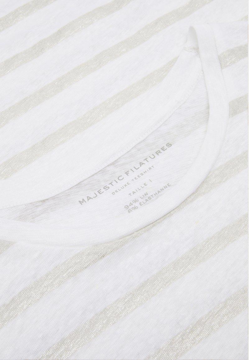 Majestic - Print T-shirt - blanc  silver metal