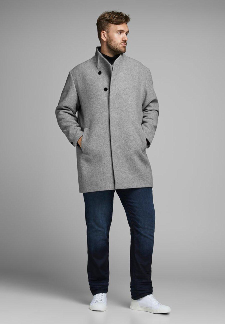 Jack & Jones PLUS SIZE MANTEL WOLL- - Manteau court - light grey melange
