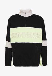 Mennace - REPEAT EMBROIDERY PANEL OVERHEAD - Bluza - black - 4