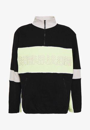 REPEAT EMBROIDERY PANEL OVERHEAD - Sweatshirt - black