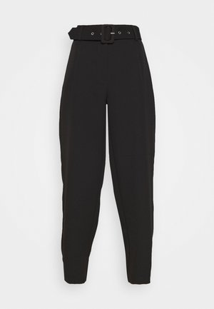 JDYPINE WIDE BELT PANT - Trousers - black