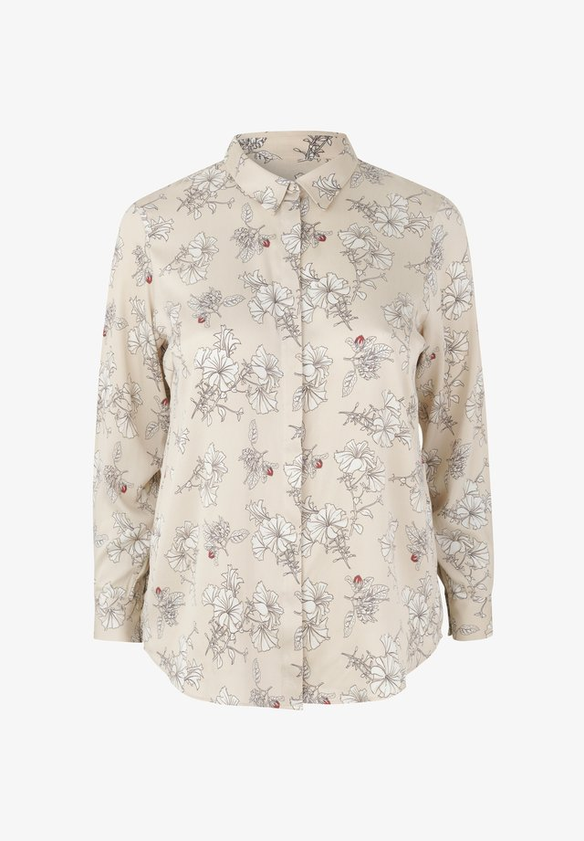 AMELIA  - Button-down blouse - beige