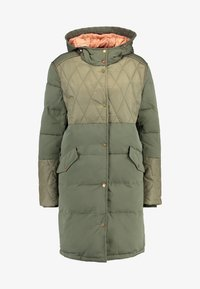 Scotch & Soda - MIXED FABRIC JACKET WITH QUILTING DETAILS - Zimní kabát - military - 3