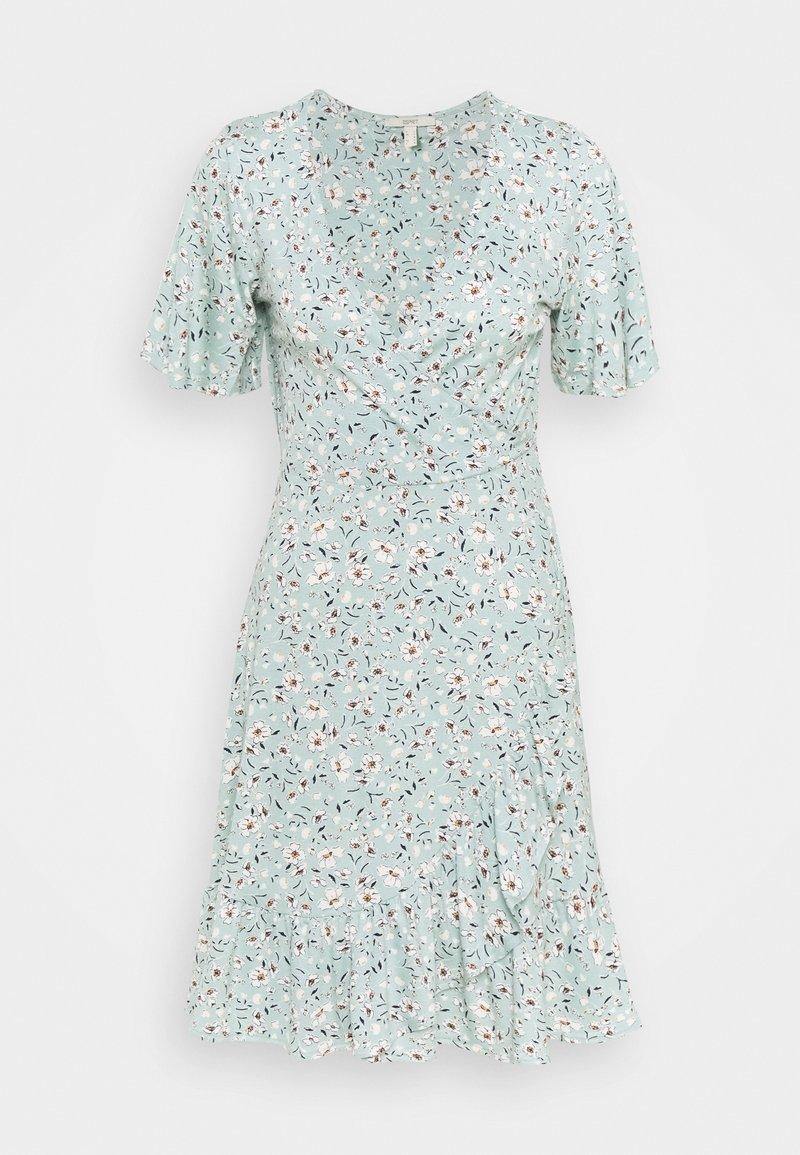 Esprit - FRILLS - Jersey dress - light aqua green