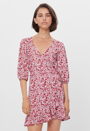 MIT VOLANTS  - Day dress - red
