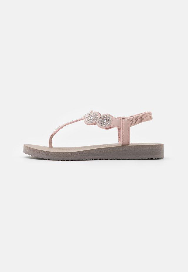 MEDITATION - T-bar sandals - light pink/clear