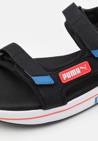 Puma - FUTURE RIDER UNISEX - Walking sandals - black/star sapphire/poppy red - 5