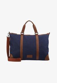 Pier One - UNISEX - Weekendbag - dark blue/cognac - 5