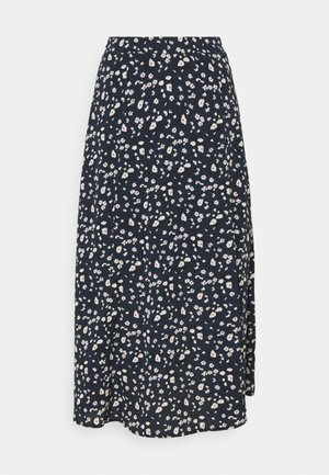 SLFMETHA MIDI SKIRT - A-line skirt - dark sapphire