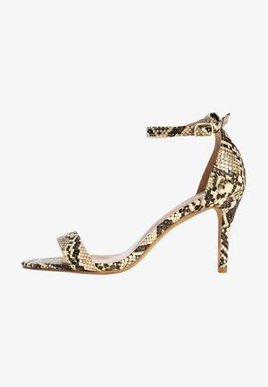 CELIA - Højhælede sandaletter / Højhælede sandaler - beige melange
