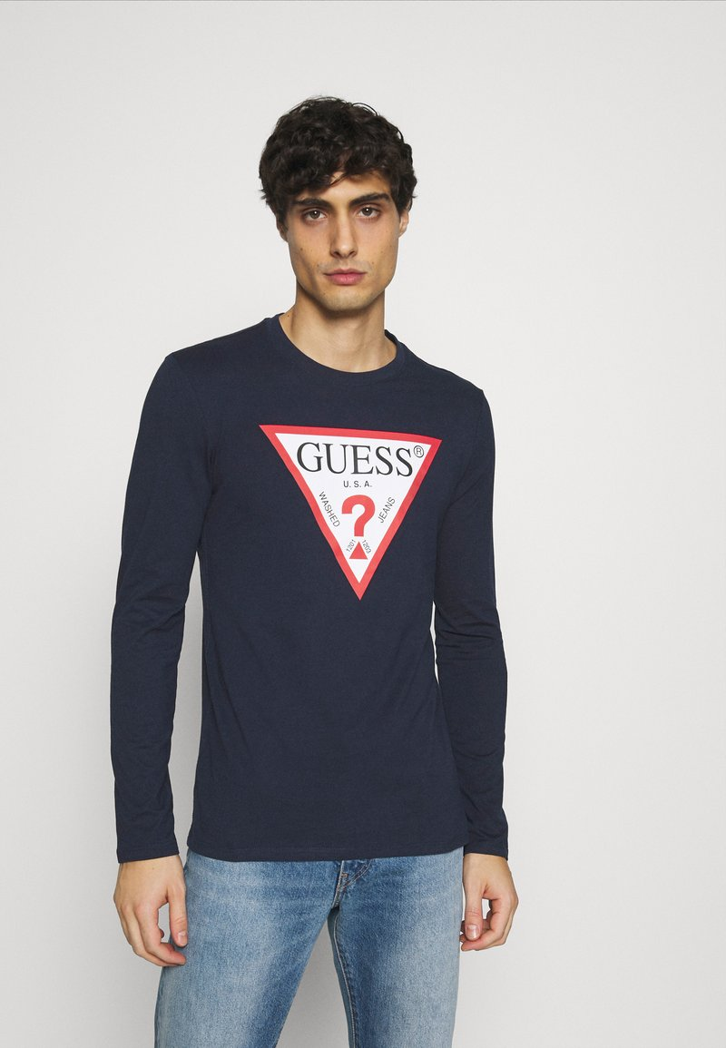 Guess - ORIGINAL LOGO CORE TEE - Long sleeved top - suiting blue