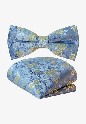 2 SET - Pocket square - himmelblau pastell blau blumen sand gelb
