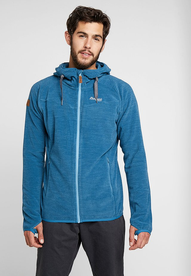 HAREID - Fleece jacket - stoneblue melange
