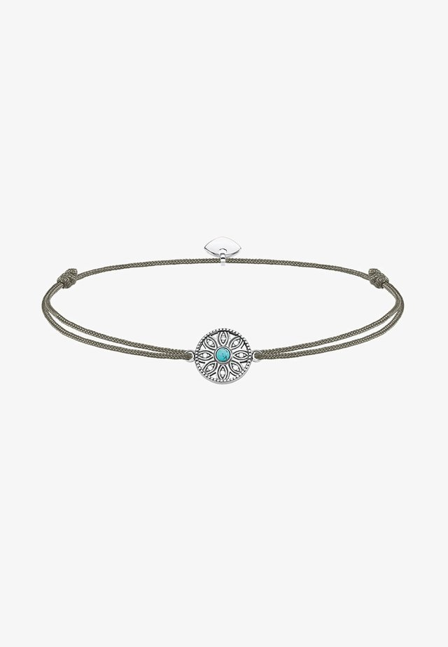 LITTLE SECRET ETHNO AMULETT - Bracelet - silver-coloured/grey/turquoise