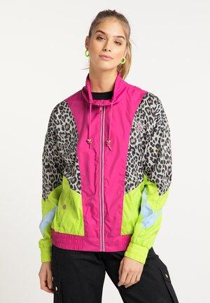 Summer jacket - pink c.block