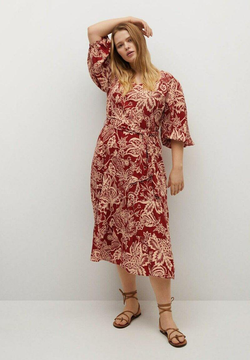 Violeta by Mango - Day dress - rojo