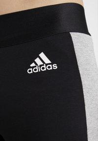 adidas Performance - SID - Legginsy - black/medium grey heather - 5