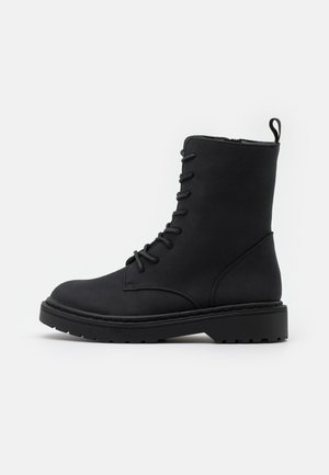 FREDA LACE UP BOOT - Lace-up ankle boots - black