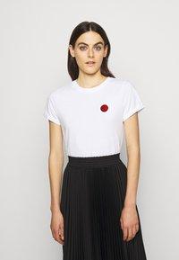 HUGO - THE SLIM TEE - Camiseta básica - white - 0