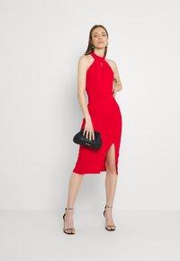 WAL G. - JAYNE LEE HALTER NECK DRESS - Cocktail dress / Party dress - red - 1