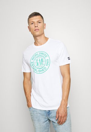 WORLD CIRCLE - Print T-shirt - optic white