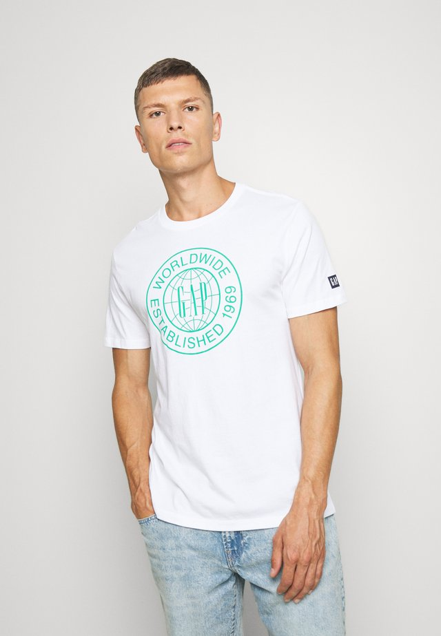 WORLD CIRCLE - T-shirt z nadrukiem - optic white