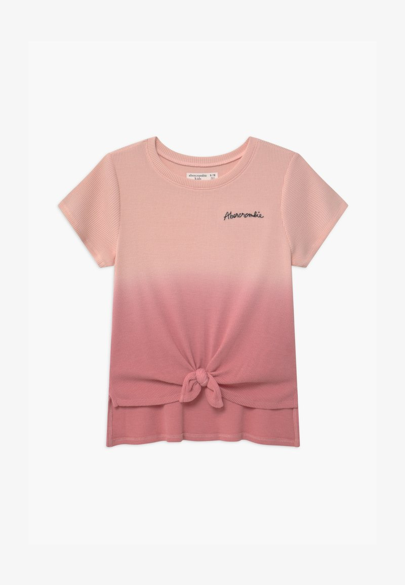 Abercrombie & Fitch - WAFFLE TIE FRONT - Print T-shirt - pink