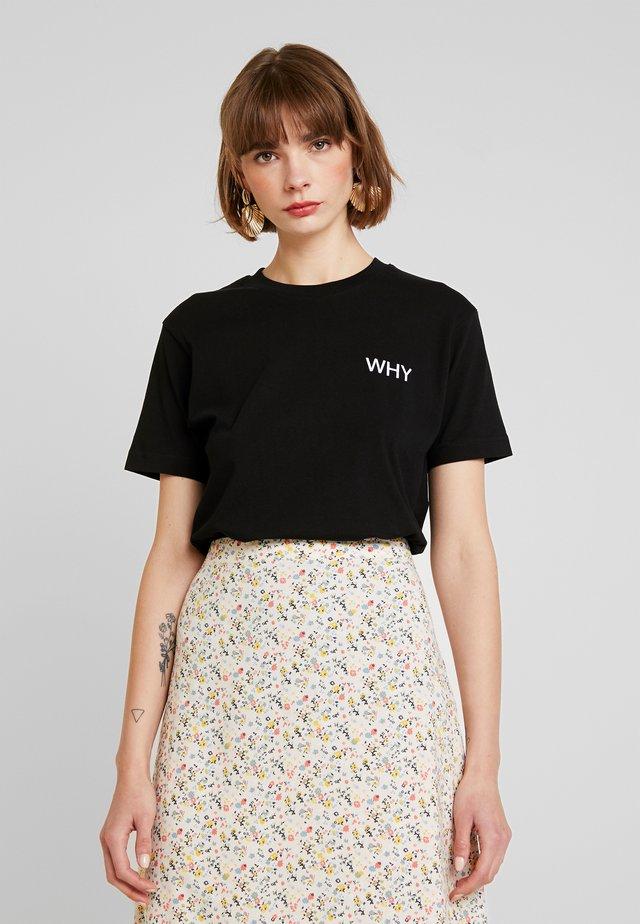 LADIES WHY TEE - T-shirt imprimé - black