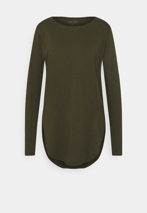 LONG SLEEVE TEARDROP TEE - Long sleeved top - khaki